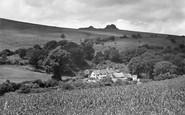 Haytor, Pinchaford Farm and Haytor Rock 1931