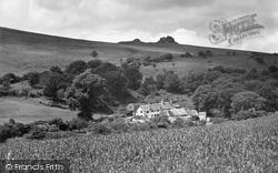Haytor Vale, Pinchaford Farm And Haytor Rock 1931