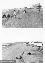 Heacham, Composite, The Beach 1902 And 1952