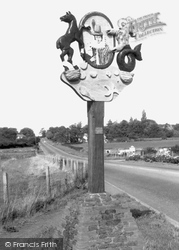 Heacham, The Village Sign Featuring Pocahontas c.1965
