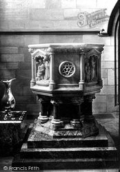 Headingley, The Church, Font 1891