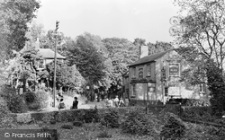 Cock Hotel And Post Office c.1955, Headley