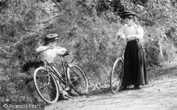 Cyclists In Oyster Lane 1906, Headley