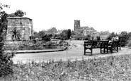 Heanor, Memorial and Church c1960