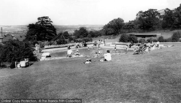 Photo of Heanor, Paddling Pool c.1960