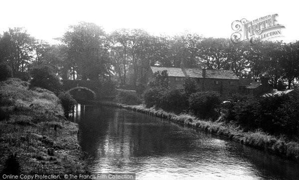 Heath Charnock, the Canal and Rawlinson Bridge c1955