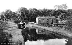 The Canal And Rawlinson Bridge c.1960, Heath Charnock