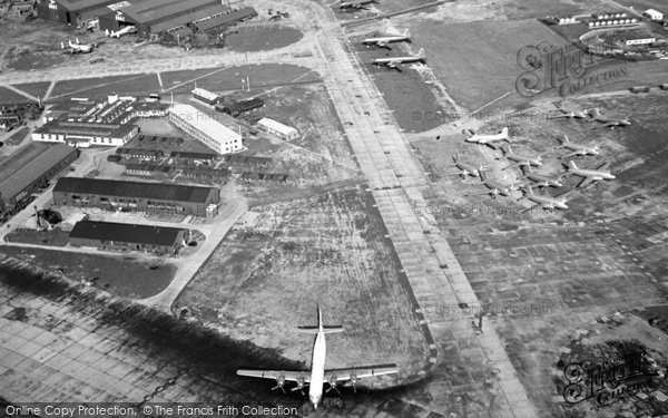 Heathrow, Airport Under Construction, From A Helicopter c.1954