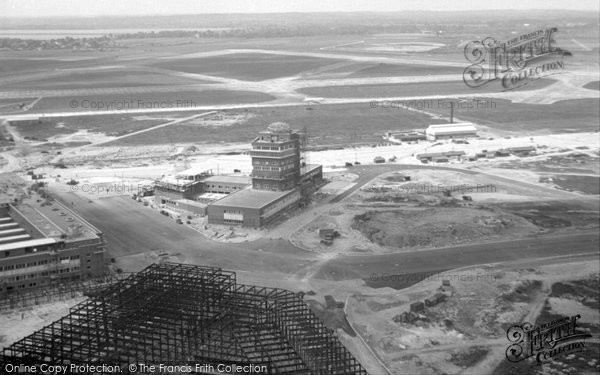 Heathrow Under Construction From A Helicopter C 1954
