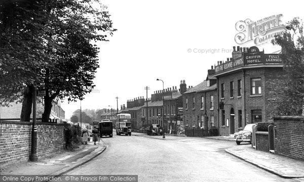 Heaton Mersey, Didsbury Road c1955