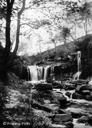Hebden Bridge, Crimsworth Dean, Lumb Hole Waterfall c.1935