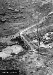 Hebden Bridge, The Footbridge c.1955