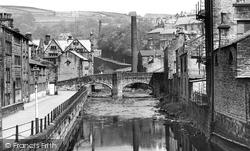 Hebden Bridge, The Old Pack Horse Bridge c.1955