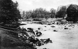 Suspension Bridge c.1900, Hebden