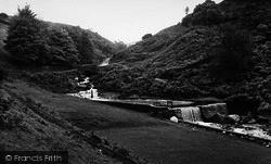 Waterfall And Bridge c.1960, Hebden