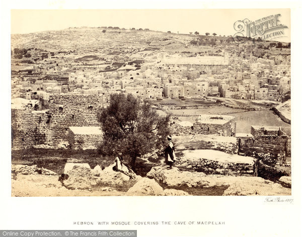 Photo of Hebron, With Mosque Covering The Cave Of Machpelah 1857