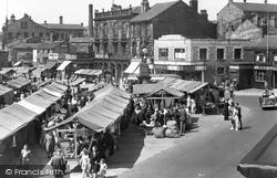 Heckmondwike, The Market Square c.1955