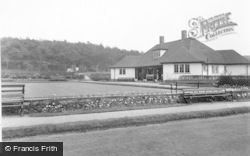 Hednesford, The Park, Bowling Green And Pavilion c.1955