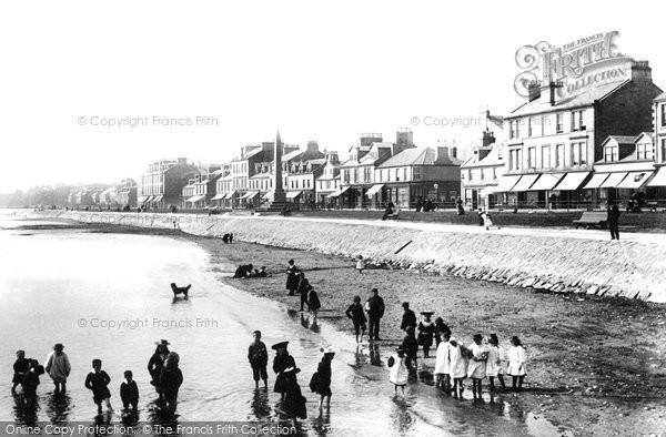 Photo of Helensburgh, On The Beach 1897