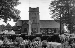 Hellifield, St Aidan's Church And War Memorial 1950