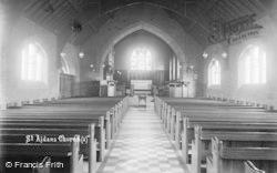Hellifield, St Aidan's Church Interior c.1910