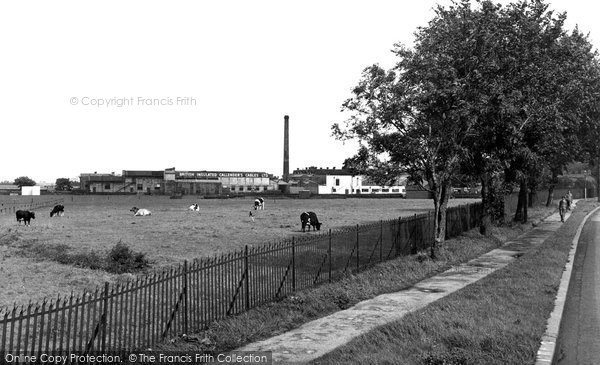 Photo of Helsby, BI Works and Sports Ground c1955