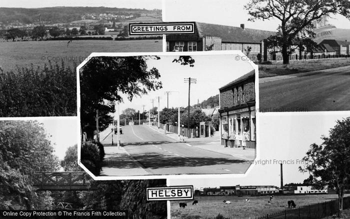 Photo of Helsby, Composite c.1960