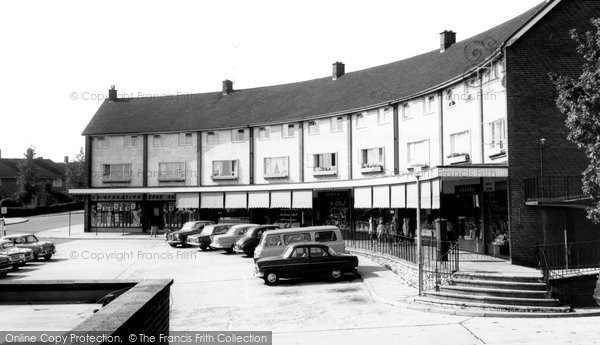 Hemel Hempstead, Chaulden, the Shopping Centre c1965
