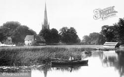 St Margaret's Church From The River 1899, Hemingford Abbots