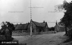 The Maypole And School c.1955, Hemswell