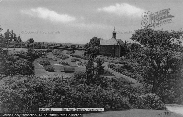 Hemsworth, the Rose Garden c1965