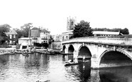 Henley-on-Thames, Bridge And Church 1890