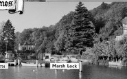 Henley-on-Thames, Marsh Lock c.1955