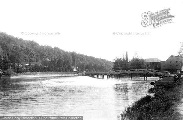 Marsh,Mill and Bridge 1893,Buckinghamshire