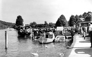 "Henley-on-Thames, The Landing Stage And Steamer ""Goring"" c.1955"