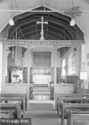 Hepple, The Church  Interior c.1955