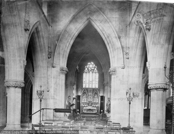 Hereford, Belmont, Roman Catholic Church Interior c.1869