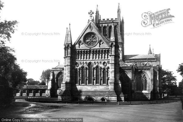 photo of hereford cathedral east end 1891 francis frith. Black Bedroom Furniture Sets. Home Design Ideas