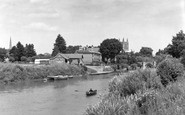 Hereford, Cathedral from River Wye 1959