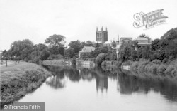 Hereford, Cathedral From River Wye c.1939