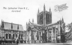 Hereford, Cathedral From The North East c.1935