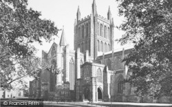Hereford, Cathedral From The North West c.1890
