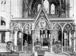 Hereford, Cathedral, The Screen And The Chancel c.1861