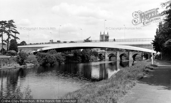 Hereford, Greyfriars Bridge and River Wye c1966