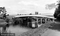 Hereford, Greyfriars Bridge And River Wye c.1966