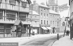 Hereford, Hairdresser And Woolley's Drapery Warehouse 1898