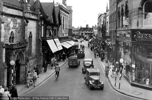 Hereford, High Street c1950
