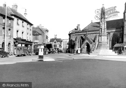 St Peter's Square c.1950, Hereford