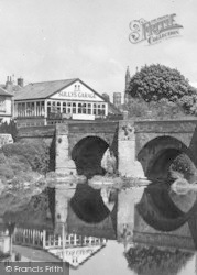 Hereford, Sully's Garage And Bridge c.1950