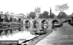 The Cathedral And Wye Bridge 1890, Hereford